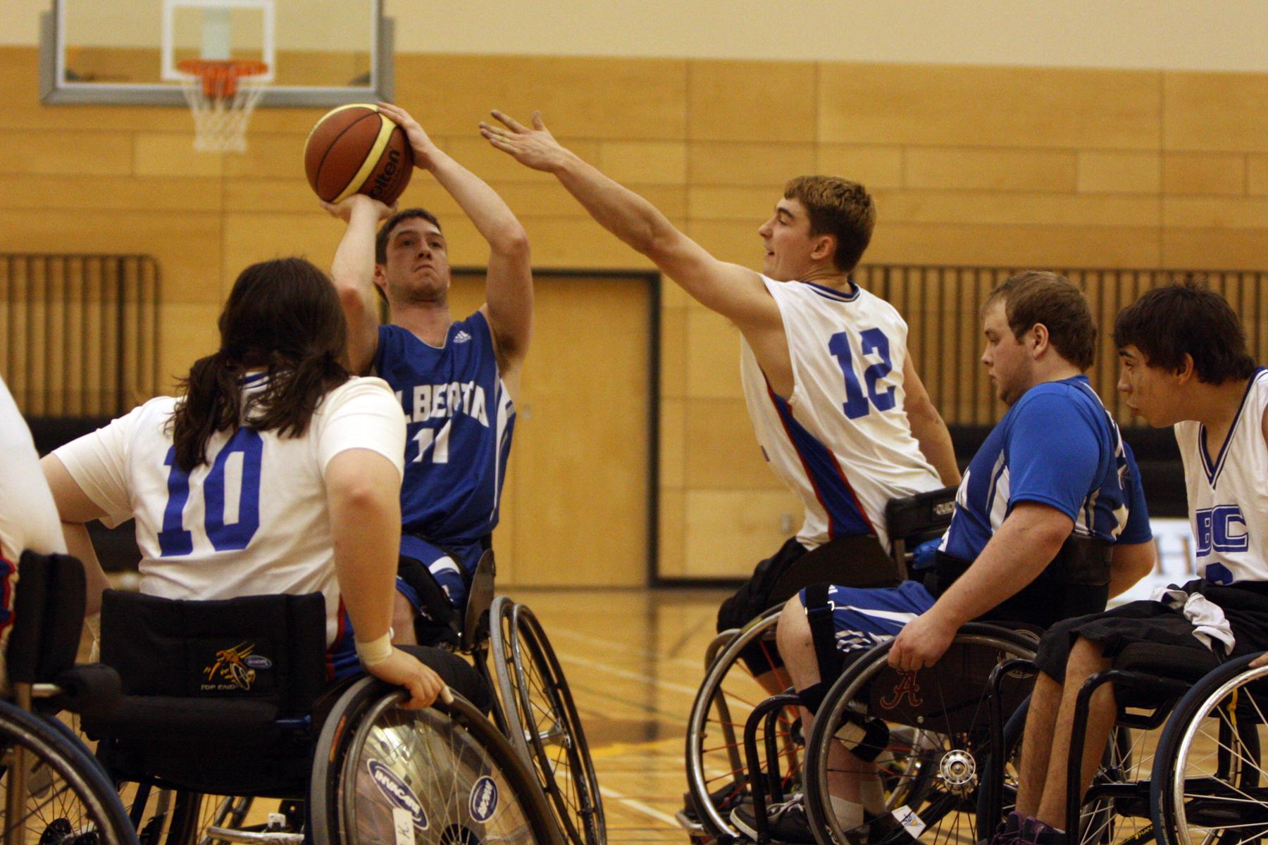 victoire de la c b contre l alberta en basketball en fauteuil roulant des jeux du canada